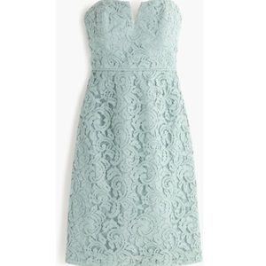 J. Crew Cathleen dress in leavers lace green